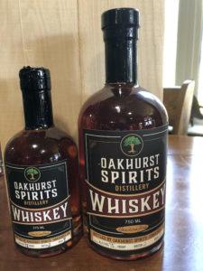 Oakhurst Spirits Single Malt Whiskey